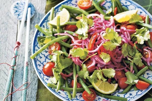 thai bean tomato salad