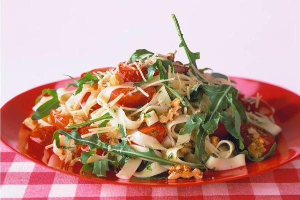 tagliatelle with roasted tomatoes