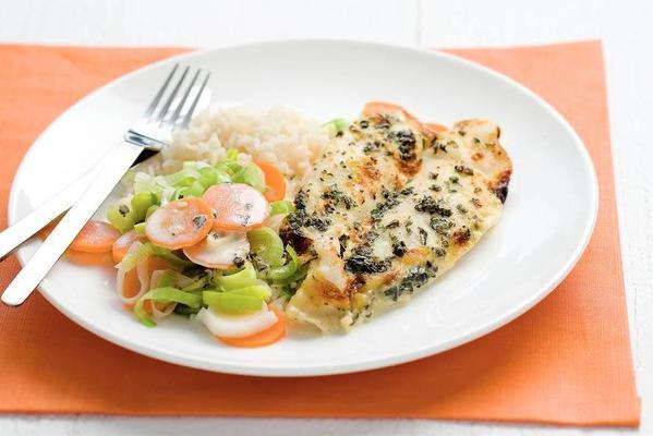 pangasius fillet with winter vegetables