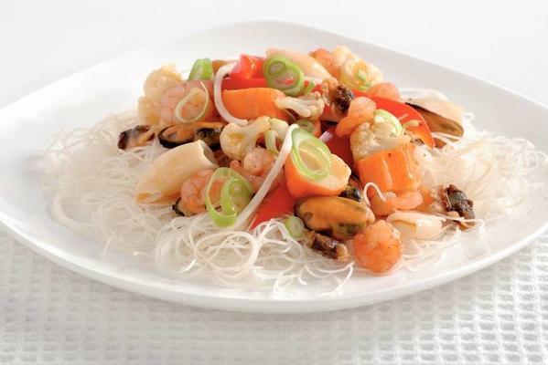 teriyaki dish with sea fruit