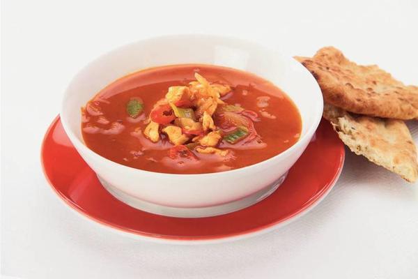 thai tomato-chicken soup