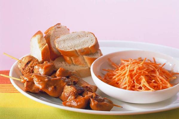 pork tenderloin with carrot salad