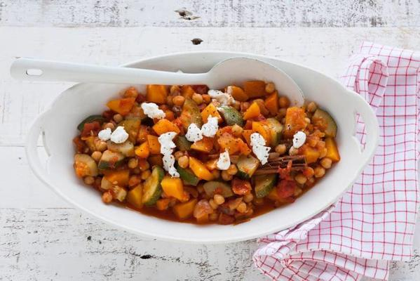 pumpkin dish with goat's cheese