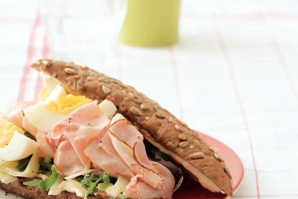 triangle roll with cream ham
