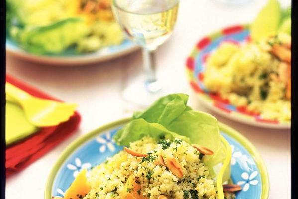 couscous salad with nuts