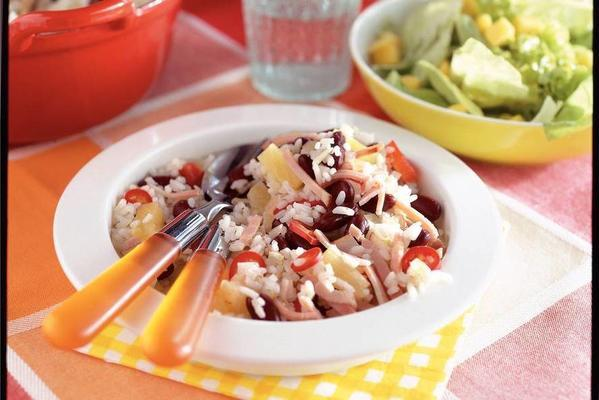 rice with beans and pineapple