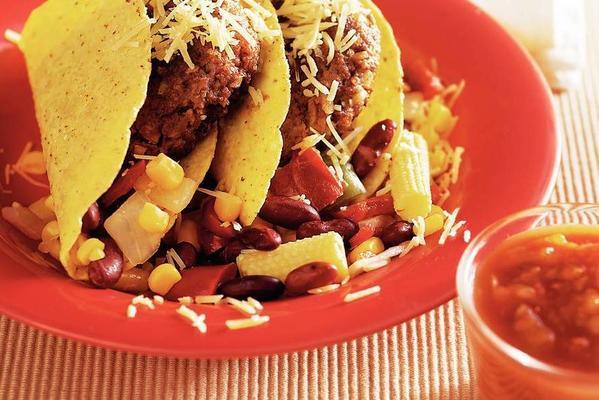 mexican taco burgers