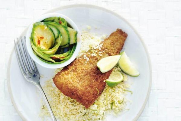 delicious bits with spicy cucumber salad