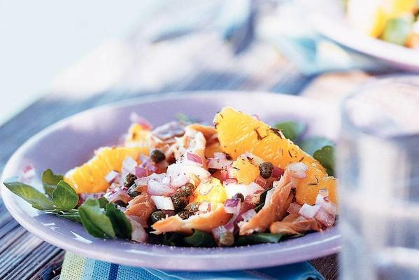 mackerel salad with orange