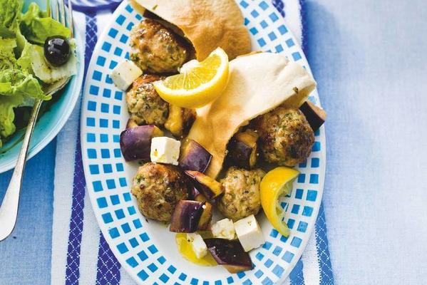 Greek balls with mint and oregano