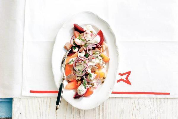 beet-herring potato salad