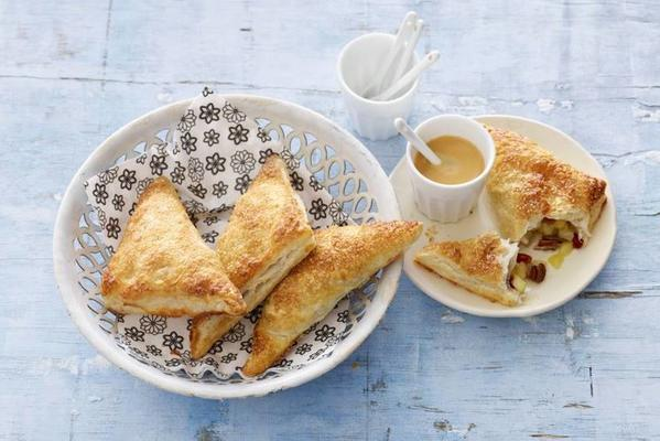 apple turnovers with cranberries and pecans