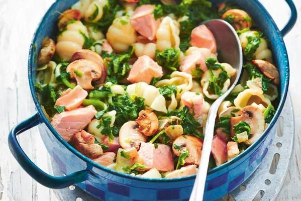 Pasta With Salmon And Spinach