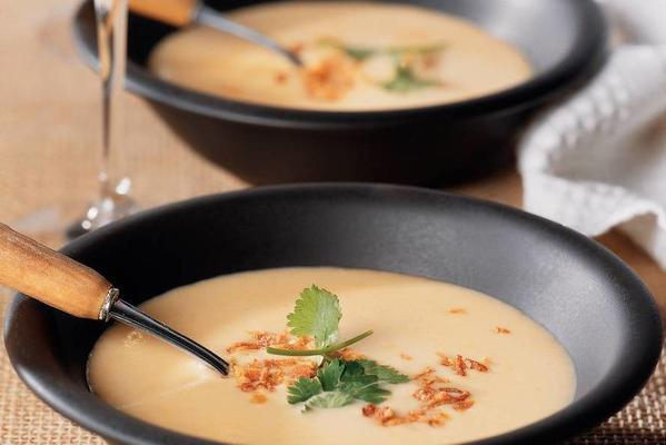 cheese soup with sherry and coriander