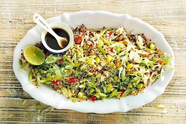 quinoa salad with edamame