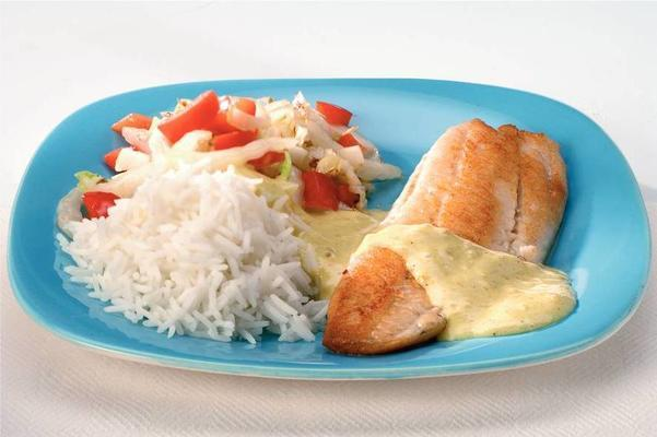 tilapia with curry coconut sauce