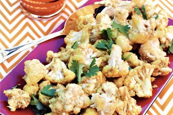 indian cauliflower salad with coconut