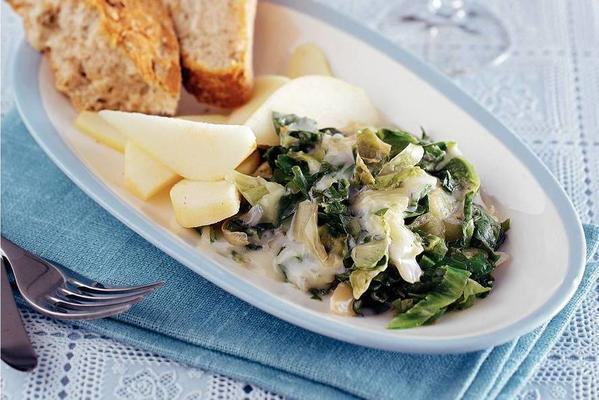 endive with gorgonzola and pear
