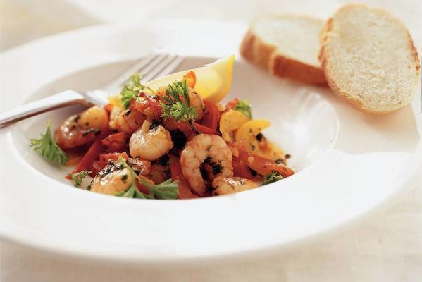 Spanish pepper shrimp
