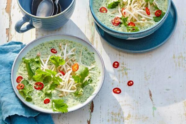 cold curry cucumber soup