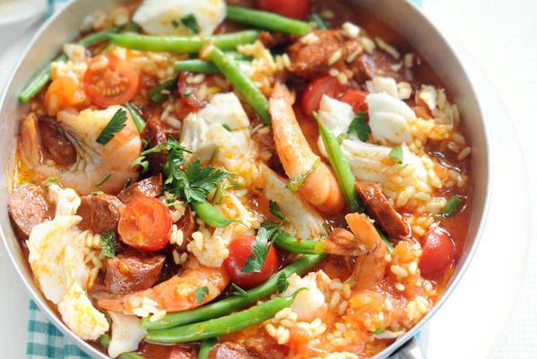 half-hour paella with fish