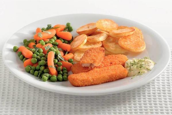 fish fingers with lime sauce