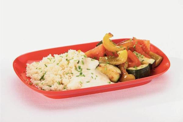couscous with light cheese sauce