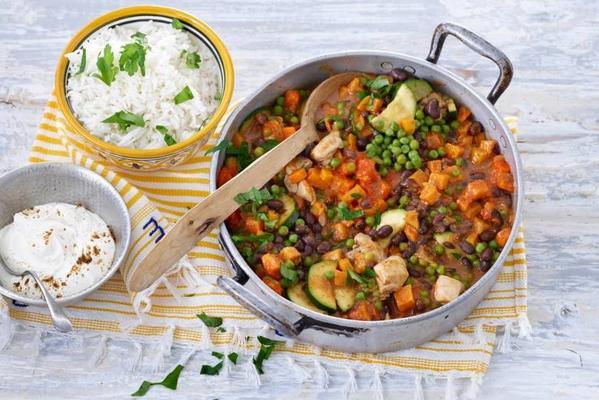 curry with aduki beans and sweet potato
