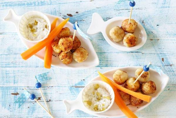 popper: fish balls with yogurt-augur sauce 1-2 yrs