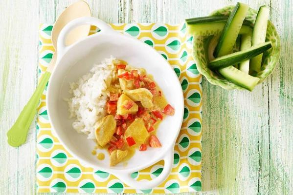 popper: coconut chicken with pineapple 1-2 yr