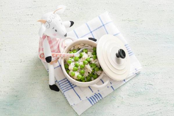 popper: risotto with peas 10-12 months