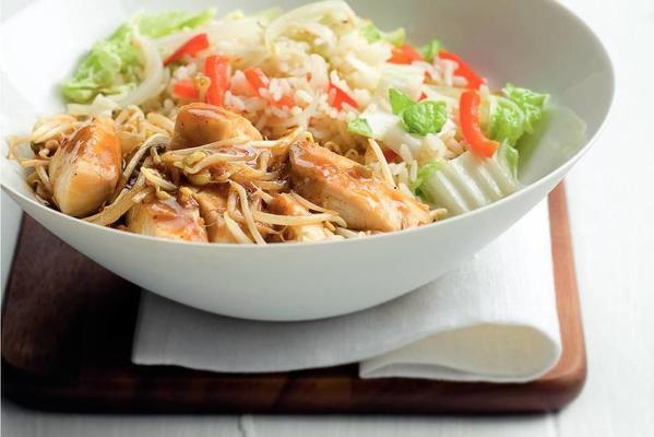 tilapia paniki with fried rice