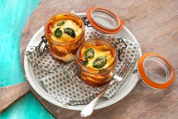 lasagne in a jar