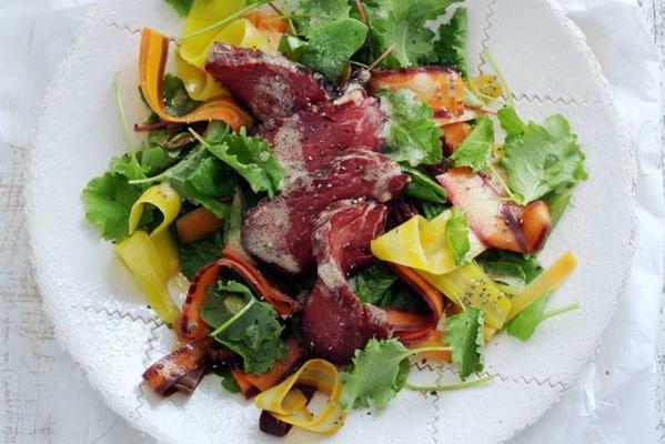 salad of marinated tenderloin