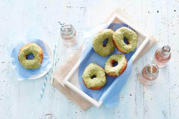 donuts with matcha glaze