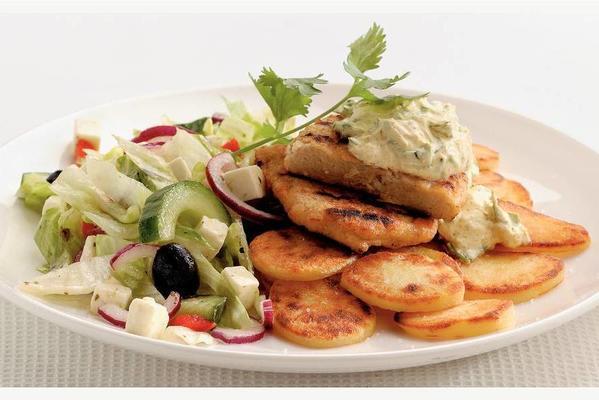 vegetarian fillet with Greek sauce