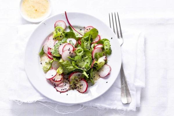 radish salad with black sesame seeds