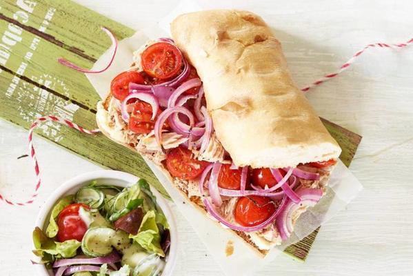 tuna ciabatta from the oven