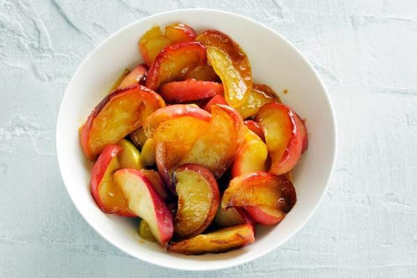 baked apple wedges with five spice