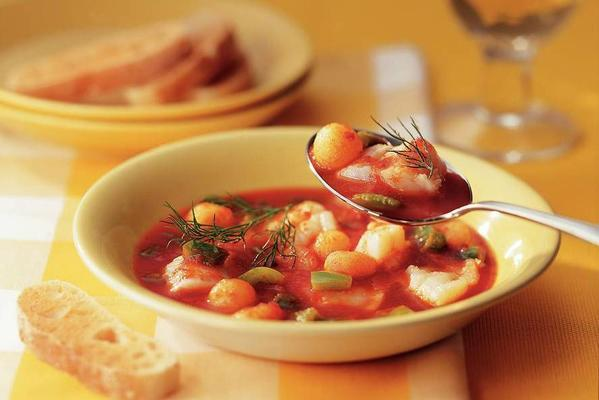 fish soup with peppers and potatoes