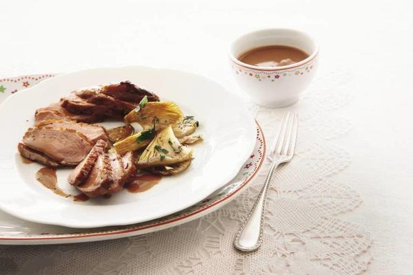 duck with creamy port sauce