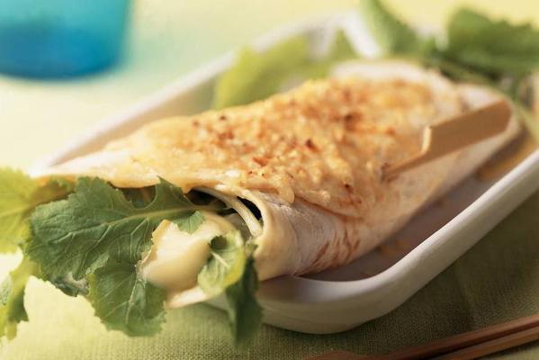tortillas with creamy turnip greens