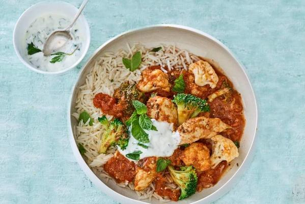curry with chicken and mint