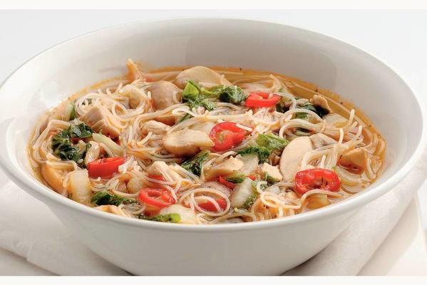 thai soup with chicken and chicken