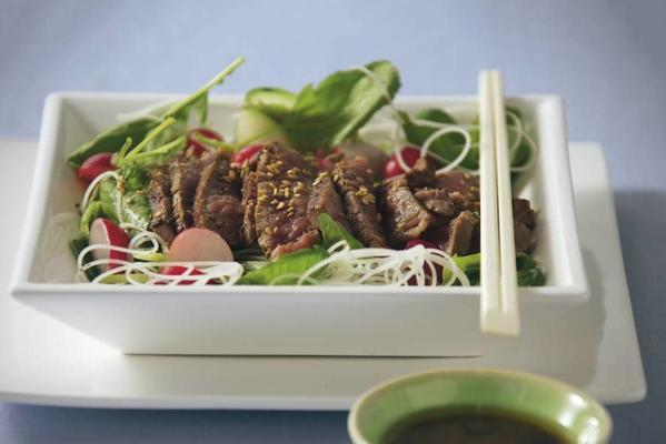 japanese steak meal salad