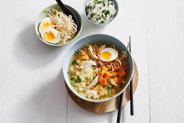 richly filled indonesian meal soup