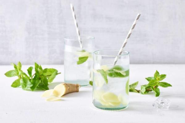 homemade lemon ginger lemonade