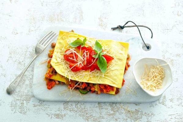 open classic lasagna