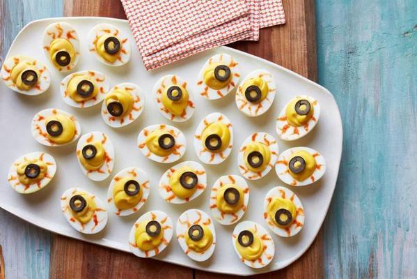 devil's eyes of stuffed eggs