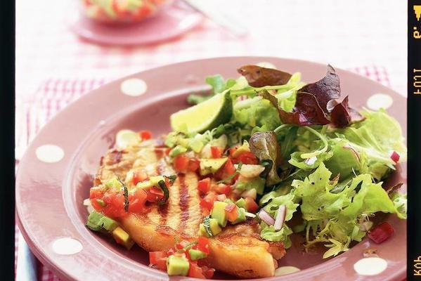 veal entrecote and avocado salsa